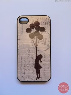 Banksy  Balloon Girl 4s Case New Hard Fitted by KeepCalmCaseOn, $15.00  A MUST HAVE for me :D
