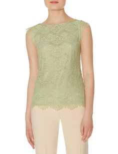 Add some lace to your spring with eyelashed floral mesh lace overlay with stretch knit underlay V-neck back from The Limited Collection Inspired by Scandal.
