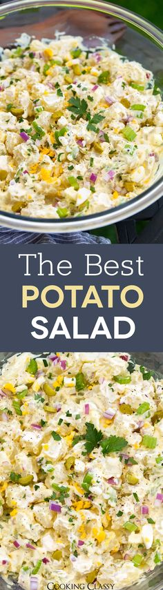 Best Potato Salad Recipe, Creamy Potato Salad, Easy Salad Recipes, Side Dish Recipes, Potato Recipes, Side Dishes, Healthy Recipes, Potato Sides, Comfort Food