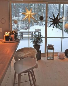 Rustic Nordic Christmas home Nordic Christmas, Christmas Home, Winter Christmas, Xmas, Scandinavian Christmas Decorations, Hygge Christmas, Christmas Kitchen Decorations, Christmas Stars, Christmas Living Rooms