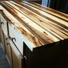 #diy #butcherblock #walnut #hickory Cheap Countertops, House Plans, Wood, Kitchen, Diy, Cooking, House Plans Design, Woodwind Instrument, Bricolage