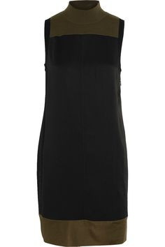 Rag & Bone Woman Vivienne Satin And Merino Wool-blend Mini Dress Black Size L Rag & Bone Browse Qwns0r6n