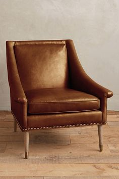Premium Leather Tillie Armchair | Anthropologie
