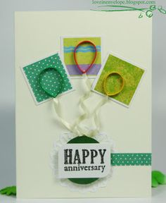 Love in Envelope: Happy Anniversary Card, Quilled Balloons