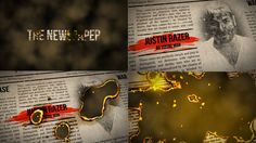Burning Newspaper Title (Miscellaneous) #Envato #Videohive #aftereffects