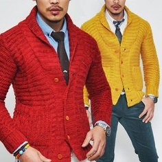 Premium Chunky Slim Knit Wool Shawl-Cardigan 35 - I like the cardigan but perhaps in a different colour