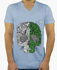 Camiseta Muerte natural Camiseta hombre, cuello pico largo  19,90 € - ¡Envío gratis a partir de 3 artículos!