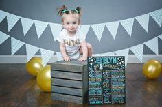 Birthday Board Sign!  Perfect for 12 month photo shoots or a keepsake