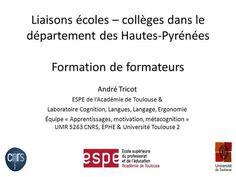 André Tricot ESPE de l'Académie de Toulouse &> Psychologie Cognitive, Motivation, Toulouse, Trainers, Language, Learning, Inspiration