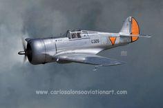 Curtiss Hawk 75A-7, Dutch Air Force, 1941.