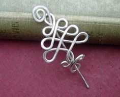 Little Celtic Tree Sterling Silver Shawl Pin by nicholasandfelice, $35.00