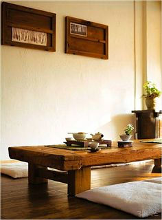 Bedroom Tea Corner Ideas | Love the Low Table