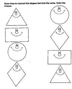 Arbeitsblätter für kinder zum ausdrucken. Geometrischen Formen 18