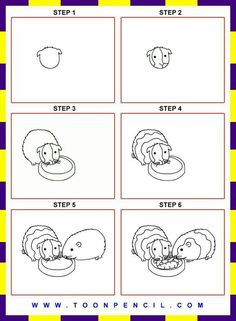 how to draw daddy pig step by step