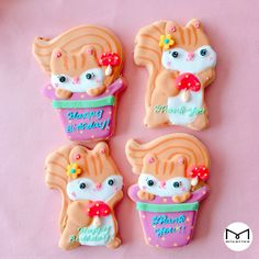 adorable squirrel cookies