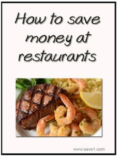 How to save money at restaurants