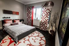 Rakhee Jain Interior Design - Guest Bedroom Design with Bold Graphics and Colours IKEA Inspired.jpg