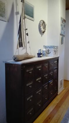 Dresser, Furniture, Home Decor, Powder Room, Decoration Home, Room Decor, Stained Dresser, Home Furnishings, Home Interior Design