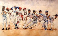 Pitching Windup by Michael Pattison, Sports Artist