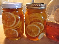 """The Hidden Pantry . Meyer Lemons and Honey, this might be magic!  I will use for """"HOT TODDIES"""". as Cough Syrup, to flavor Teas, and much much more."""