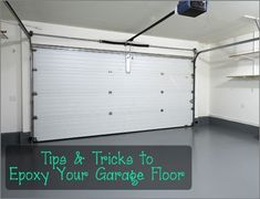 I wish I knew all of these simple tips before I did my garage. How to Epoxy a Garage Floor.