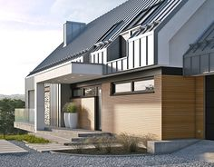 """Check out new work on my @Behance portfolio: """"MODERN SINGLE-FAMILY HOUSE near Cracov"""" http://be.net/gallery/40621319/MODERN-SINGLE-FAMILY-HOUSE-near-Cracov"""