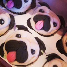 Pug cupcakes :-)