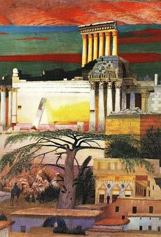 Hungarian Modern Artist Csontváry Kosztka, Tivadar (1853–1919) Paints a Bold, Colorful Lebanon