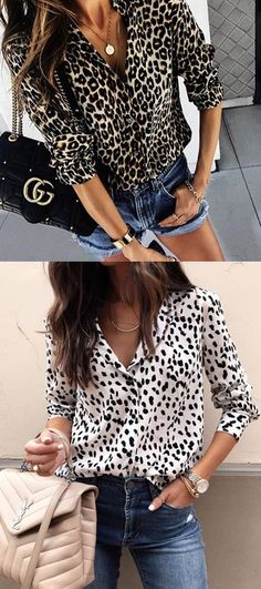 $32.99 USD Sale! Free Shipping! Shop Now! Venidress Casual Leopard Printed Blouses Fashion Mode, Fashion 2018, Curvy Fashion, Fashion Outfits, Womens Fashion, Girlie Style, My Style, Casual Work Outfits, Cute Outfits