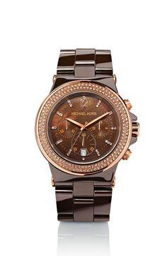 MK watch in mocha