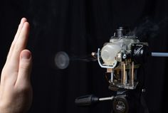 Researchers Add 'Sense Of Touch' To Gaming Experience - Disney Research has developed a method to engage the sense of touch to add to the interactive gaming experience. A new technology called AIREAL uses controlled puffs of compressed air to create the impression of a ball bouncing off a hand, a tingling from the flutter of a butterfly's wing, or the rippling of air as a seagull circles a user's head. | Red Orbit