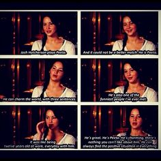 Awwwwwww Jen talking about how Josh is the absolute perfect person to play Peeta ♡
