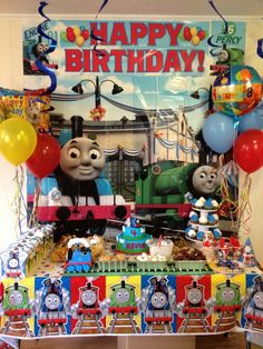 Thomas the Train Party Thomas Birthday Parties, Thomas The Train Birthday Party, Winter Birthday Parties, Trains Birthday Party, Train Party, 3rd Birthday, Birthday Party Themes, Birthday Ideas, Chai