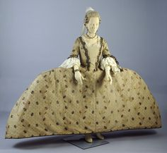 Silk dress ensemble, 1752-60, from the Museum of London