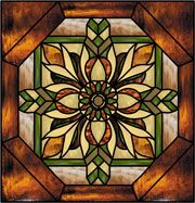 Wilson-J Faux Privacy Stained Glass Clings and Window Films