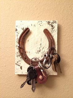 Horseshoe key holder or Jewelry holder by markiebuck on Etsy, $14.00
