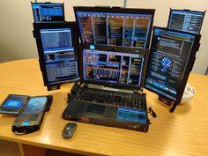 Computer Setup, Computer Case, Computer Technology, Technology Gadgets, Computer Station, Electronics Gadgets, Electronics Projects, Le Totem, Computer Projects