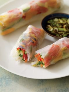 Summer Rolls with Marigolds and Nasturtiums