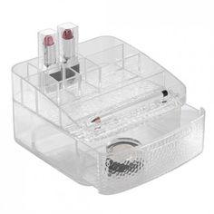 Interdesign - La boîte à maquillage 1 tiroir Rain : vos produits de beauté enfin bien organisés pour peu de place !