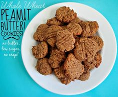 Whole Wheat Peanut Butter Cookies!