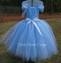 Blue Southern Belle Tutu Dress Costume by TiffanyBrooksDesigns.com