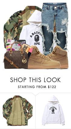 """Untitled #200"" by trillest-qveen247 on Polyvore featuring Carhartt and NIKE"