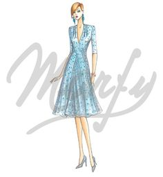 Our Patterns :: Marfy Collection 2015/2016 :: Sewing Pattern 3749 -