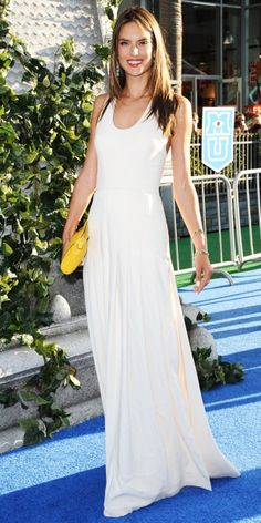 Alessandra Ambrosio: At the Hollywood premiere of Monsters University.