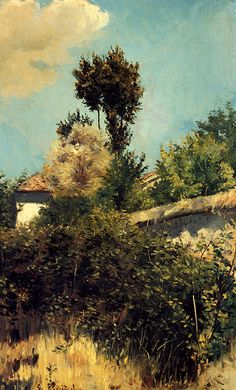 The Garden Wall by Santiago Rusinol