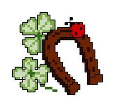 Against bad luck (horseshoe, ladybug, clover, limb, joy)