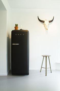 Smeg koelkast met skull. Stoer industrieel
