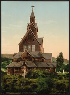 Hitterdals Church, Telemarken (i.e, Telemark), Norway]  [between ca. 1890 and ca. 1900].
