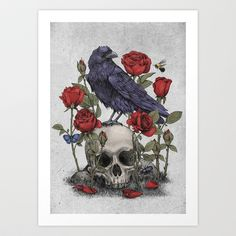 Memento+Mori+Art+Print+by+Terry+Fan+-+$18.00
