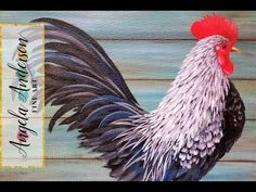 Rooster Acrylic Painting Tutorial LIVE Step by Step Beginner Lesson #yearoftherooster - YouTube